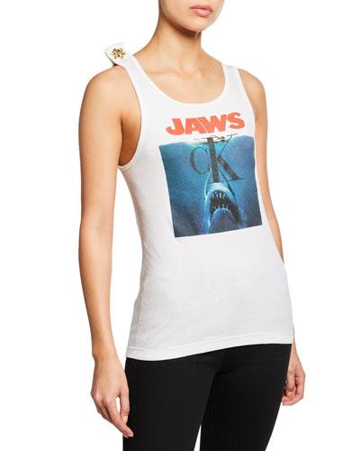 Jaws Scoop-Neck Tank Top