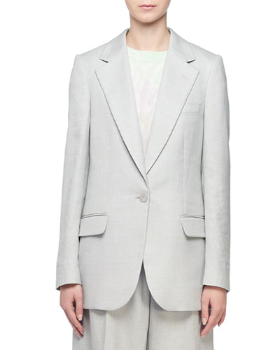 Linen Single-Breasted Blazer