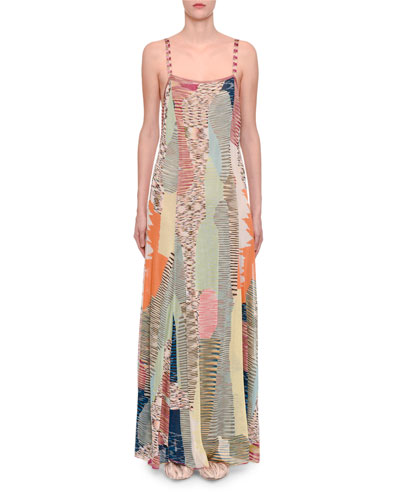 Space-Dye Intarsia Maxi Cami Dress