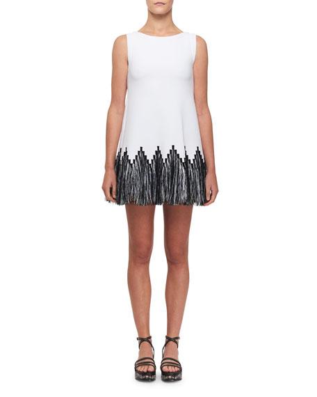 Alaïa Dresses RAFFIA-FRINGE TUNIC DRESS