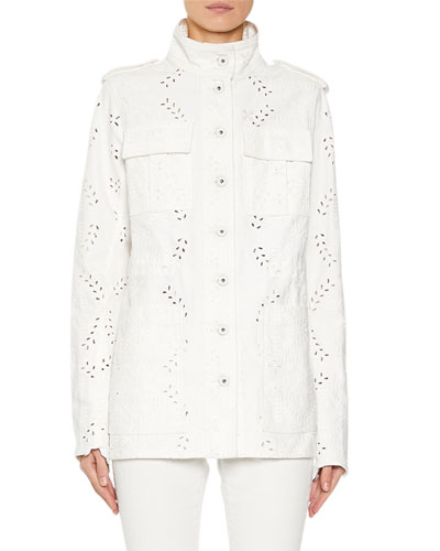 M65 Eyelet Embroidered Denim Jacket Quick Look. Off-White c5a8d26bc