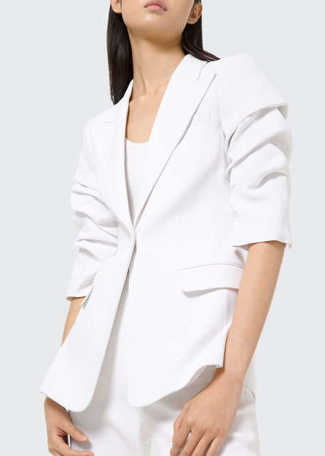 Crushed Sleeve Blazer
