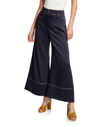 Satin High-Waist Culottes