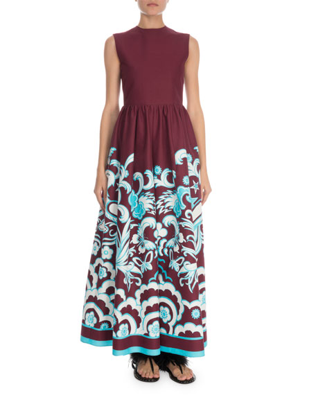Sleeveless Printed Wide-Leg Jumpsuit