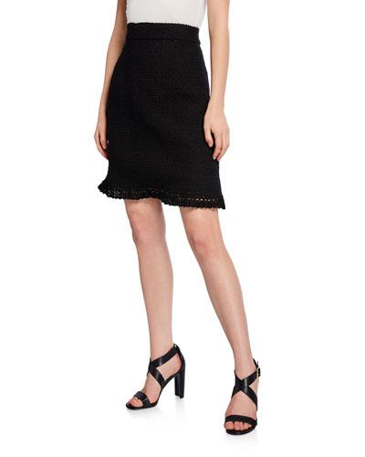 Tweed Boucle Skirt