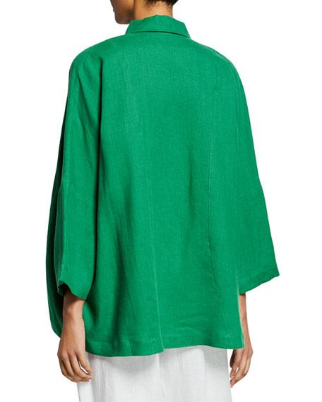Italian Lightweight Linen Button-Front Shirt