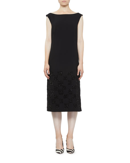 Dries Van Noten Embroidered-Hem Midi Dress