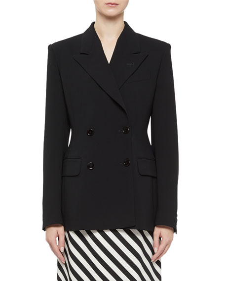 Dries Van Noten Barbina Seamed Double-Breasted Jacket