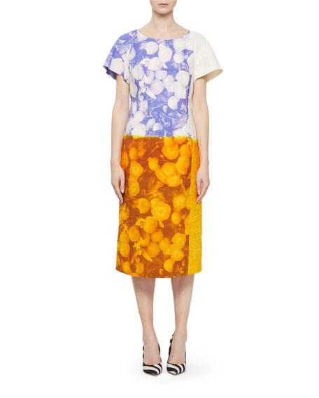 Dries Van Noten Della Floral Cotton/Linen Midi Dress