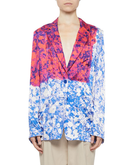 Bondovi Lightweight Floral-Print Easy Jacket