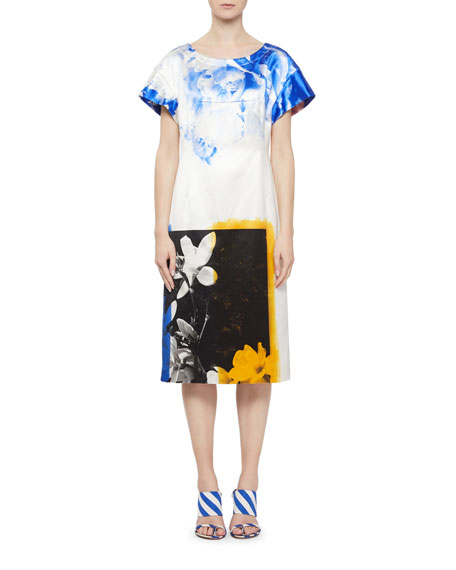 Dries Van Noten Della Stripe-Back Floral Midi Dress