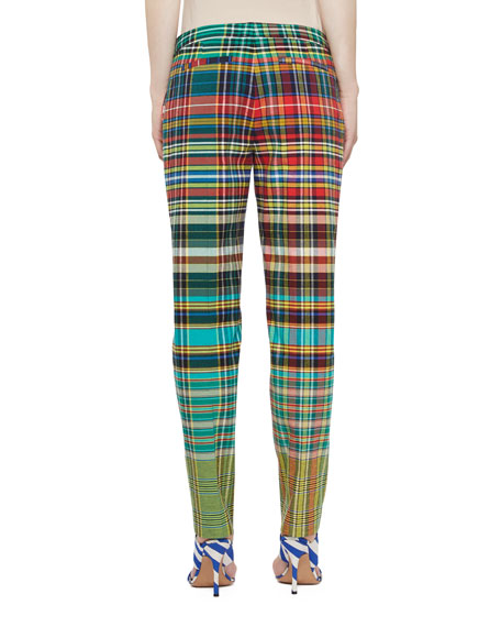 Mutli-Plaid Cropped Pants