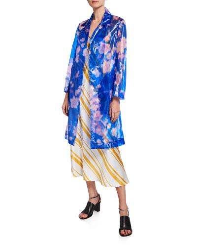 Floral Button-Front Coat