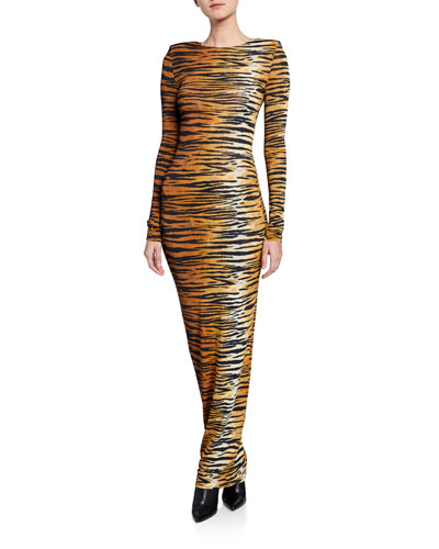 88520c67b4 Tiger-Print Bodycon Gown Quick Look. Alexandre Vauthier