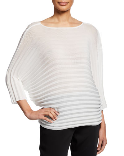 Straw Pleated Pullover Top