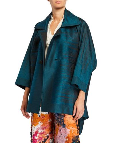 Oversized Line-Jacquard Jacket