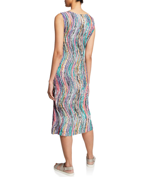 Zigzag Stroke Sleeveless Shift Dress