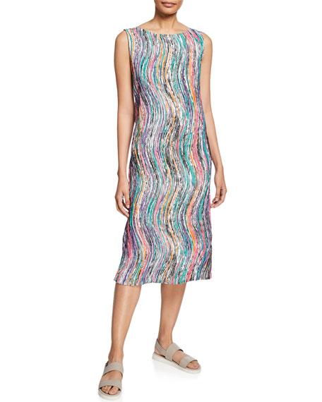 Zigzag Stroke Sleeveless Shift Dress