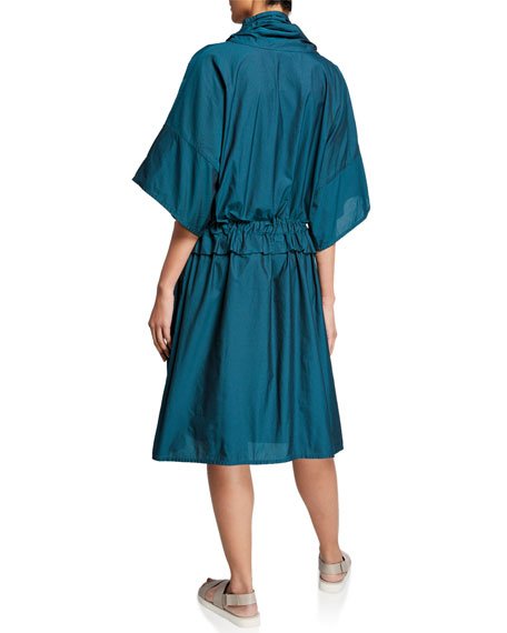 Farfalle Ruched Dress w/ Pockets