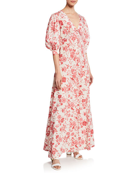 Chloe English Cotton Floral Maxi Dress