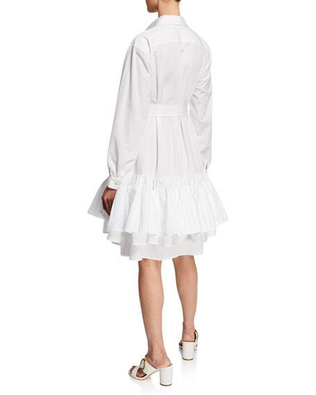 Natalie Long-Sleeve Cotton Dress