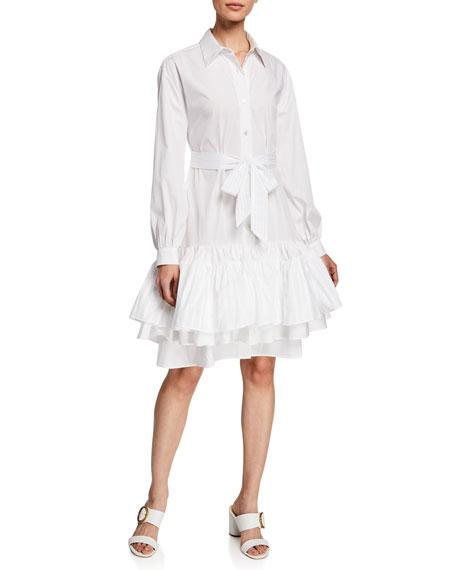 Evi Grintela Natalie Long-Sleeve Cotton Dress