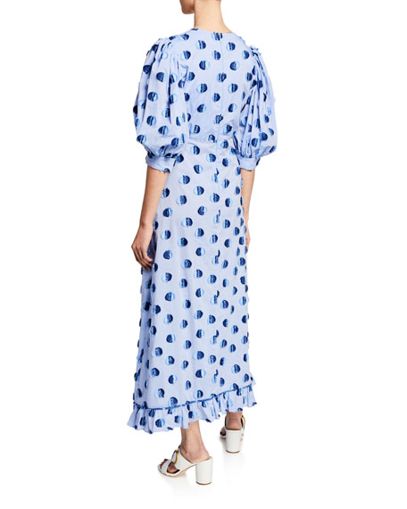 Vanessa Long Polka Dot Cotton Dress