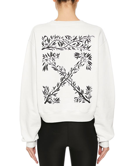 Logo-Back Crop Sweatshirt