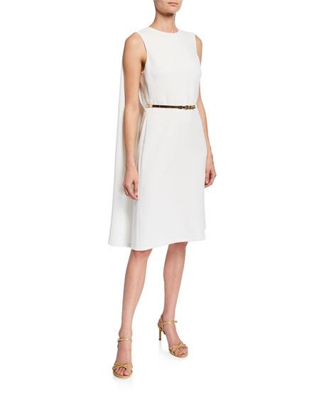 Ralph Lauren Dresses AVIANA BELTED CAPE-BACK COCKTAIL DRESS