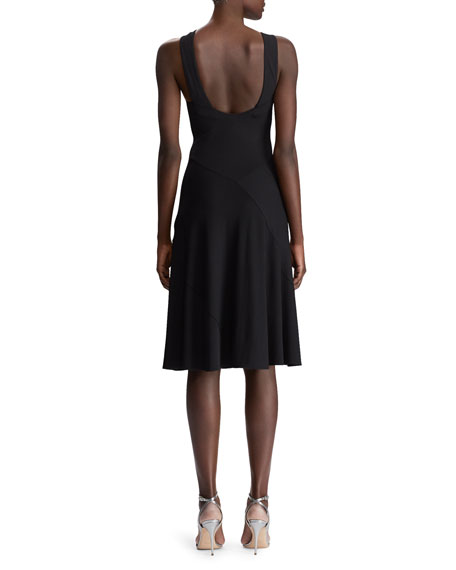 Myrian Crisscross Halter Dress