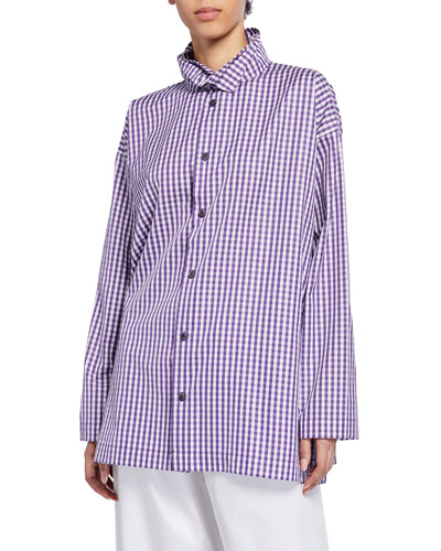 Two-Collar Button-Front Shirt