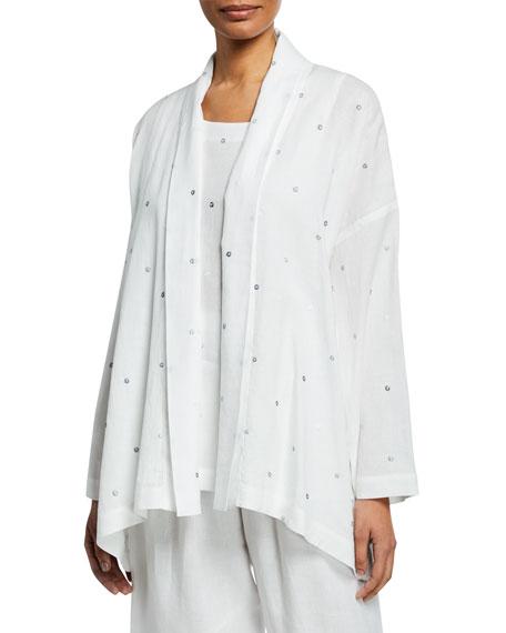 Eskandar Embroidered Circle Shawl-Collar Jacket