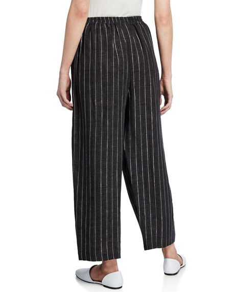Delave Linen Japanese Trouser with Silver Stripe