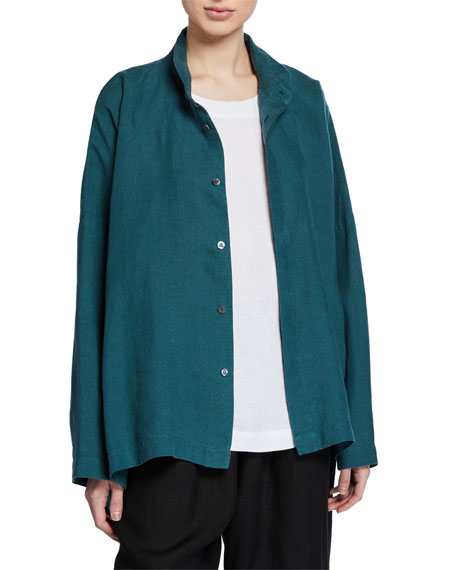Wide High-Low Irish Lightweight Linen Shirt