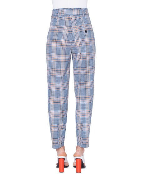 Fred Belted Plaid Wool/Nylon Pants