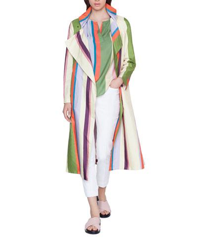 Memphis Glass Striped Raincoat
