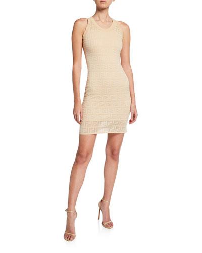 Sleeveless Logo Knit Dress