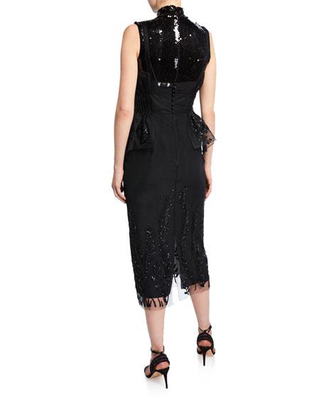 High-Neck Mini Dress