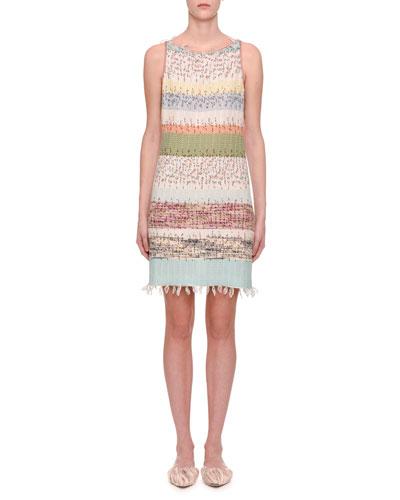 Sleeveless Striped Knit Dress