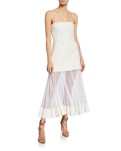 e2eba9bca5 Strapless Pleated Net Skirt Midi Dress Quick Look. Dion Lee