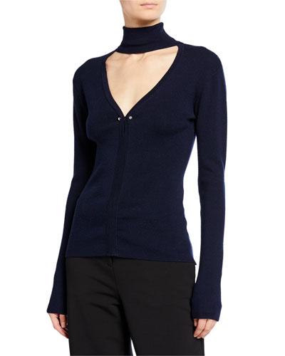 Turtleneck Cutout Sweater