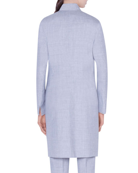 Reversible Long Wool Jacket
