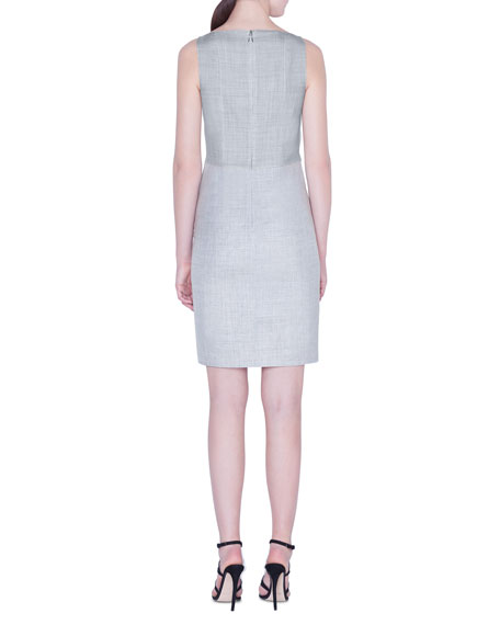 Lightweight Wool Sleeveless Sheath Dress