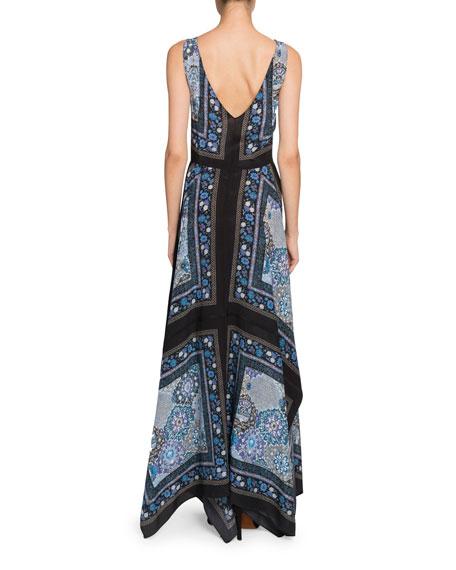 Floral Print Button-Front Dress
