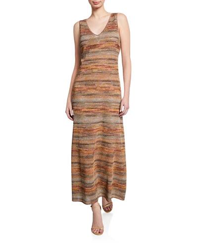V-Neck Sleeveless Maxi Dress