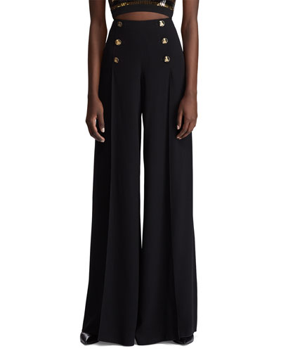 Montaine High-Rise Crepe Palazzo Pants