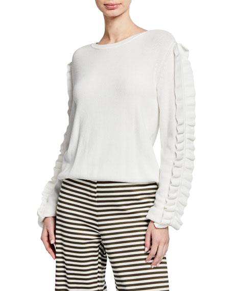 Maxmara Globale Ruffle-Sleeve Sweater