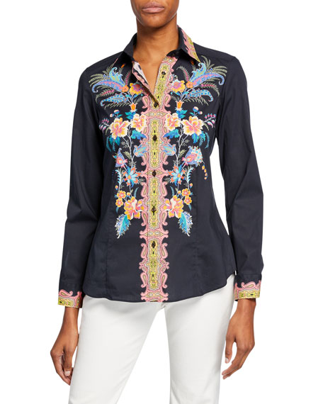Floral Fern Engineer Cotton Shirt