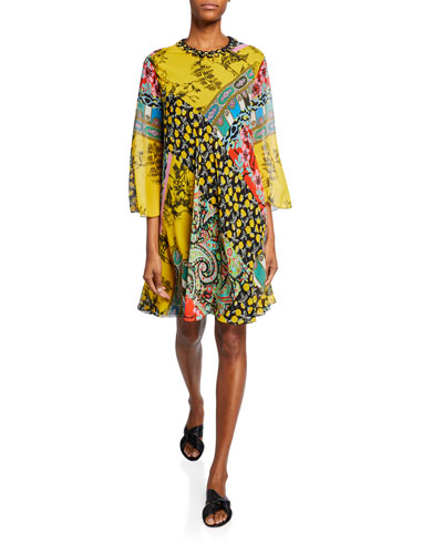 Paisley Collage Tent Dress