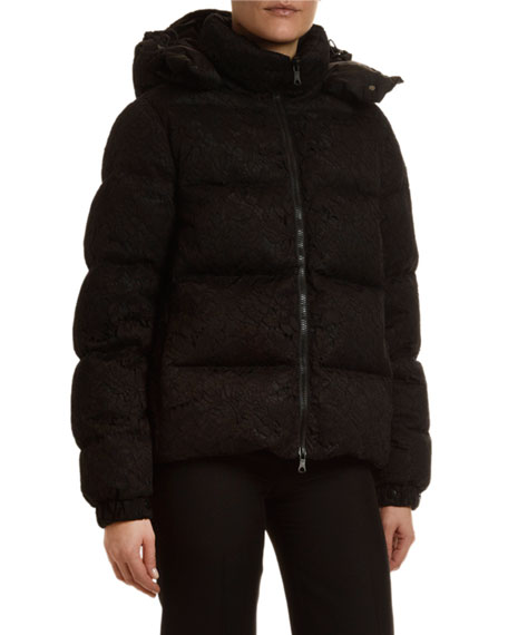Lace-Covered Puffer Jacket